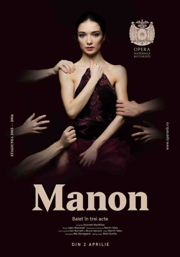 Marina Minoiu - cap de afiș al spectacolului Manon, ONB