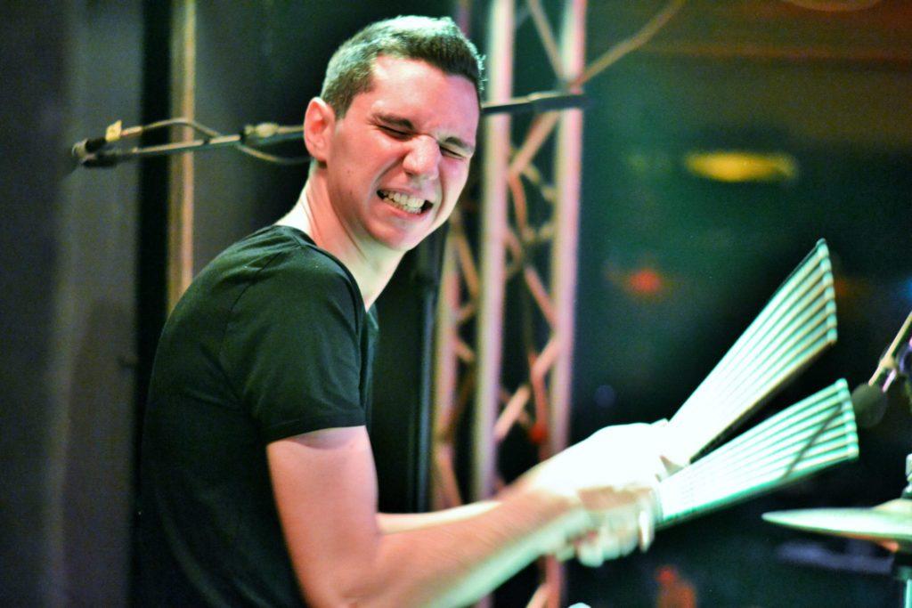 Bogdan Moleșag în 2014, toboșarul Up to Eleven