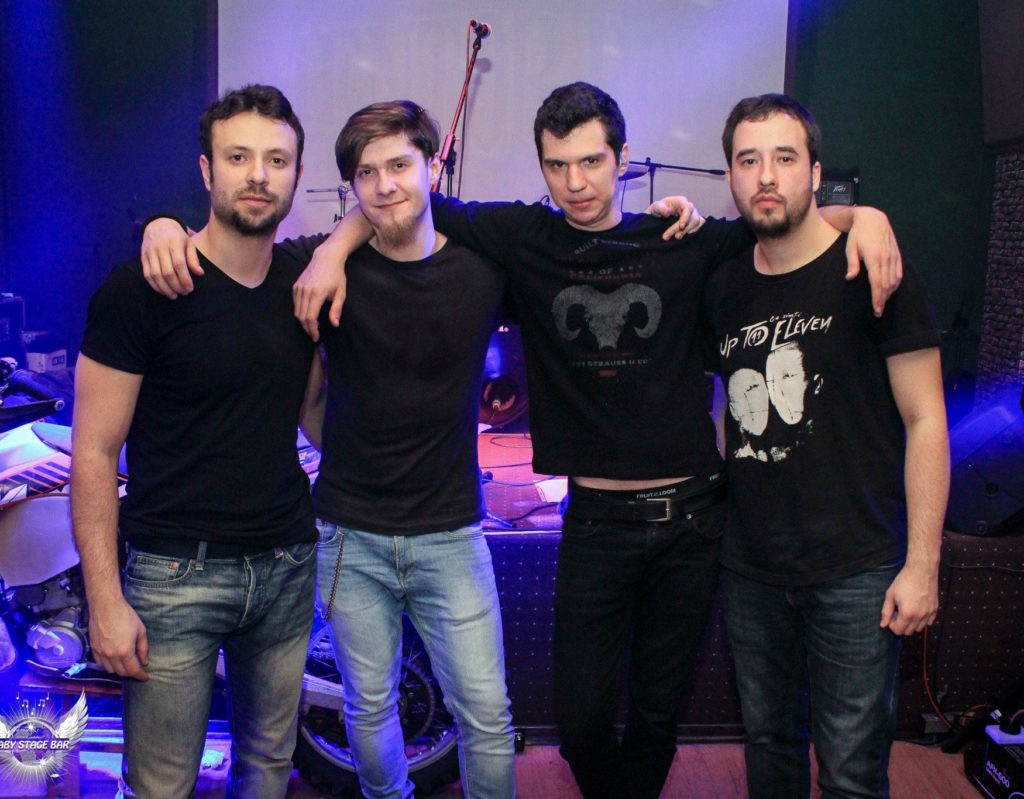 Membrii trupei Up to Eleven: Leo, Mircea, Bogdan, Liviu Foto: Daniel Bușoi