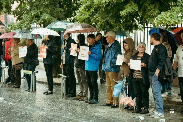 Protest mut la Sibiu