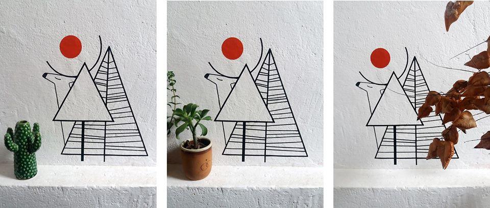 Autocolante de la Cai verzi pe pereți