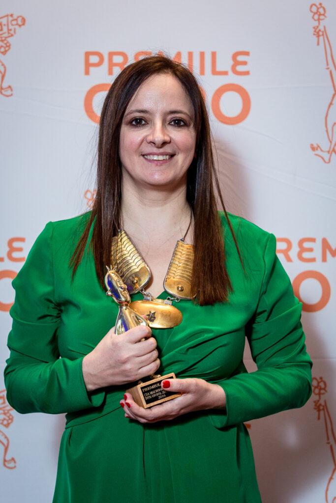 Mihaela Sîrbu a câștigat Premiul Gopo în 2016 pentru rolul Sultana din filmul Aferim!