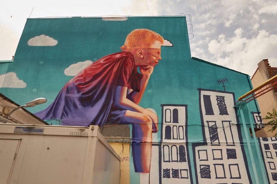 Pictura murală de la Spitalul Grigore Alexandrescu foto: Adi Bulboacă