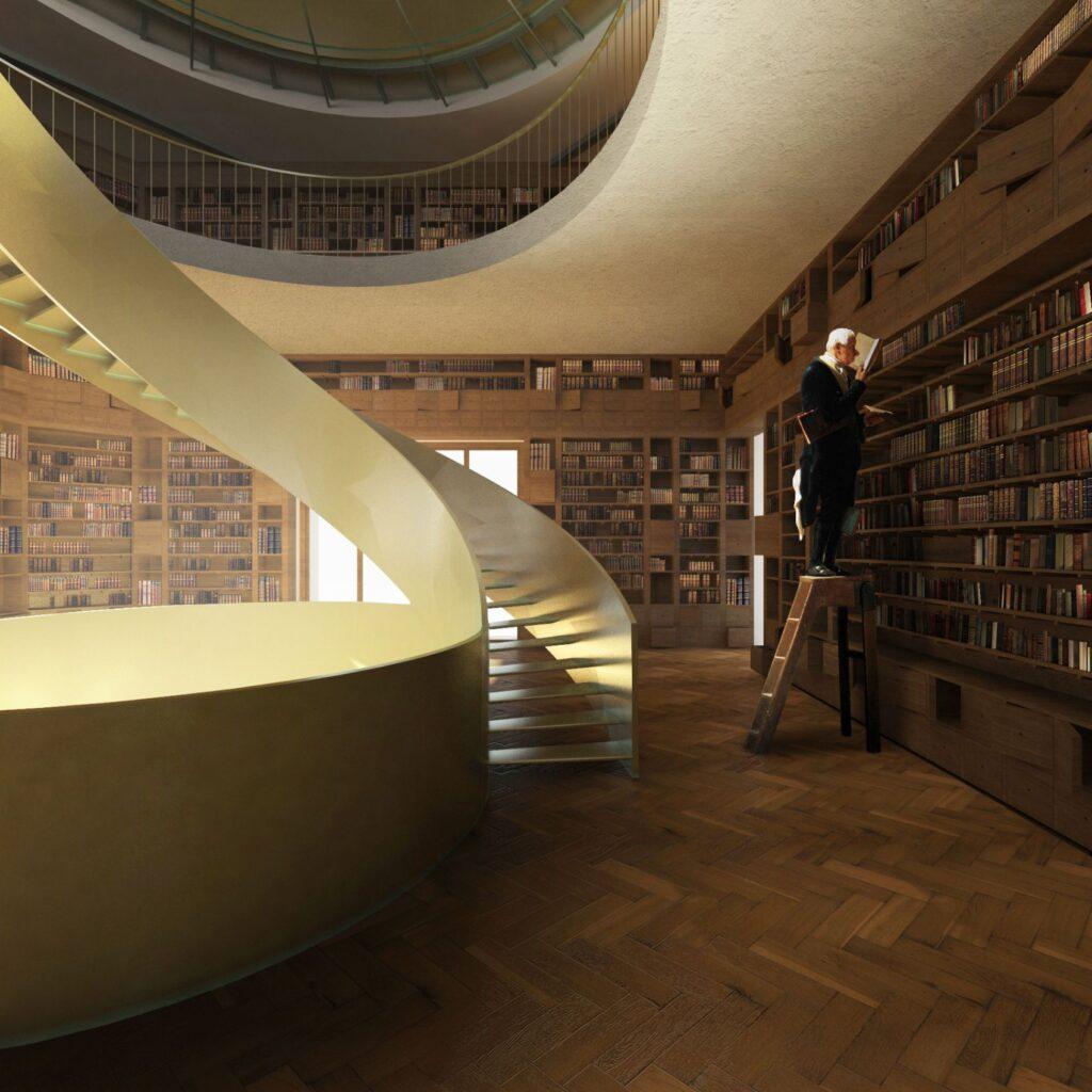 Biblioteca propusă de proiectul căștigător/ foto: Starh