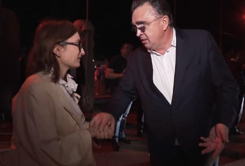 Paula Herlo și Marian Oprișan/ foto: captură Știrile Pro tv