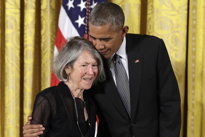 Louise Gluck și Barak Obama/ foto: Carolyn Kaster / Associated Press
