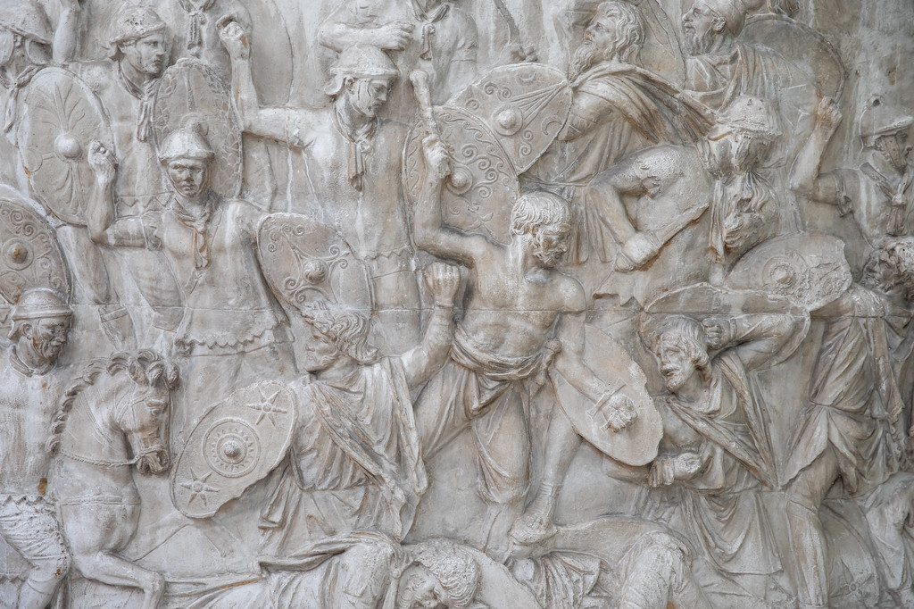 Componentă a Copiei după Columna lui Traian/ foto: Bogdan Iordache/ PhotoCube