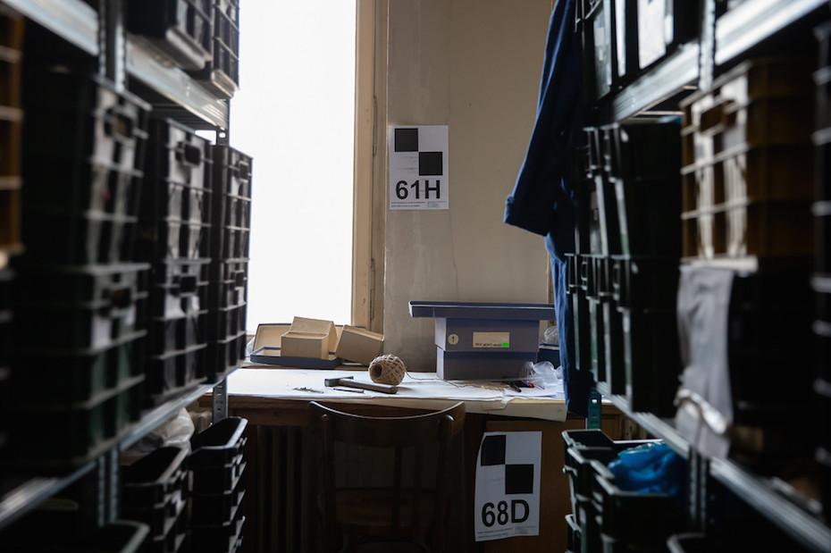 Camera de depozitare la MNIR/ foto: Bogdan Iordache/ PhotoCube