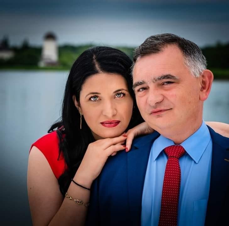 Liliana Toderiuc Fedorca și Stelian Fedorca/ foto: facebook