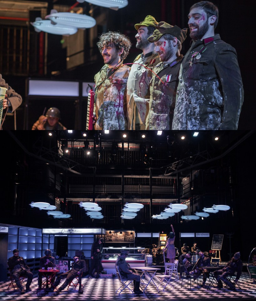 Spectacolul Requiem, regia Matei Vișniec, scenografia Irina Moscu