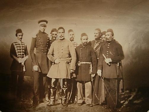 Osman Pașa  și liderii turci în Războiul Crimeii,  Carol Popp de Szathmári/ sursa: szathmari.ro