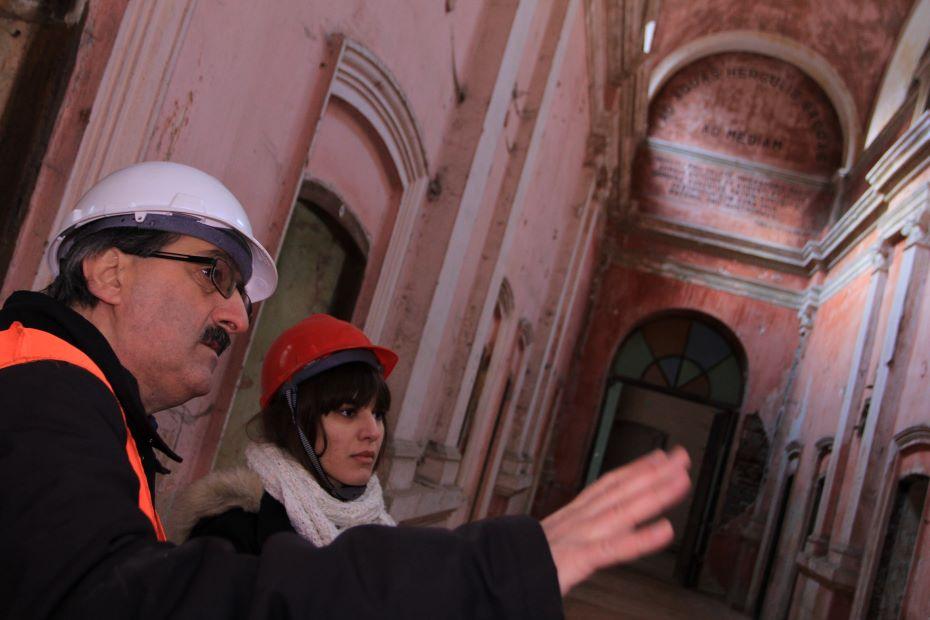Oana Chirilă la Herculane/ foto: Herculane Project