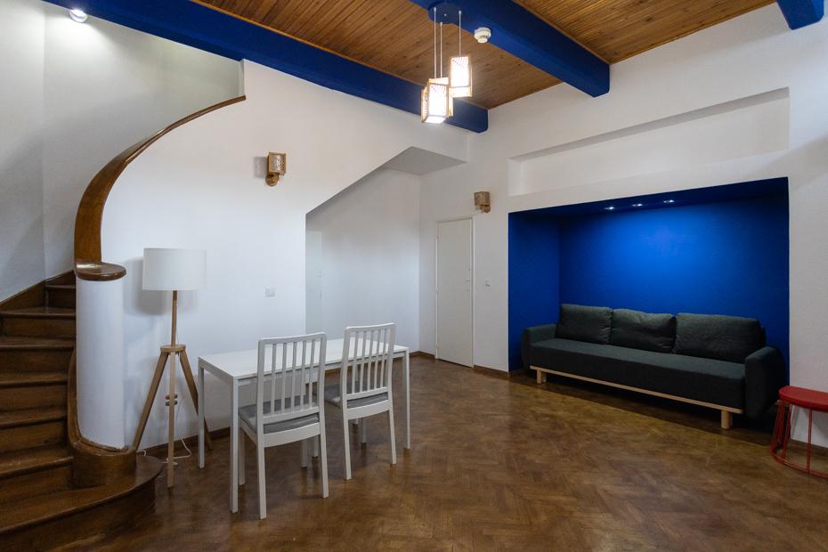 Interiorul casei care va găzdui Rezidența de buzunar/ foto: Adrian Scutariu