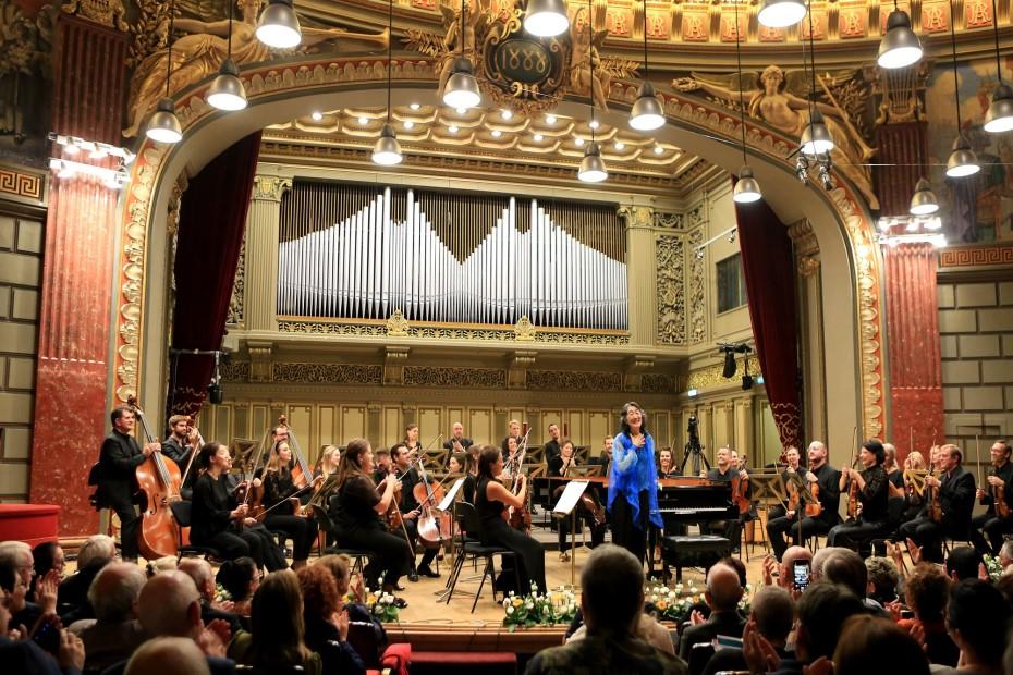 Mahler Chamber Orchestra & Mitzuko Uchida la Festivalul Enescu în 2019/ foto: Cătălina Filip