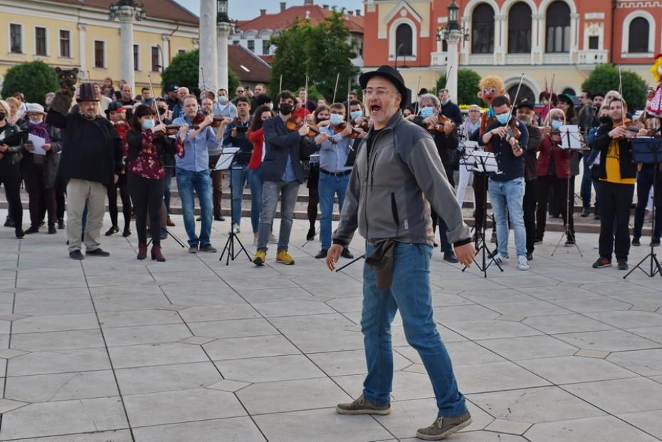 protest actori oradea