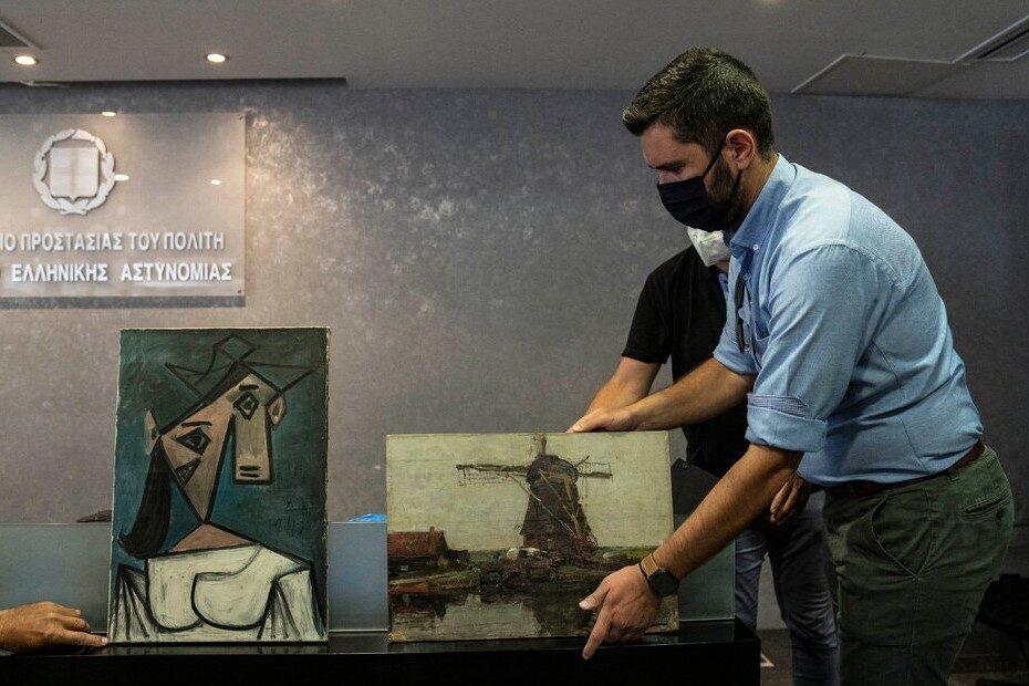 Lucrări furate Galeria Națională a Greciei