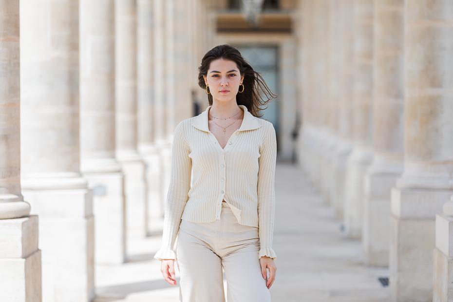 Anamaria Vartolomei la Palais Royal, Paris / foto: Bogdan Iordache/ Cultura la dubă