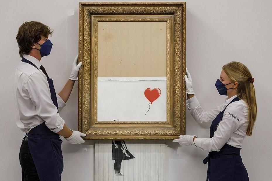Lucrarea Love is in the bin, de Banksy, stabileste un nou record